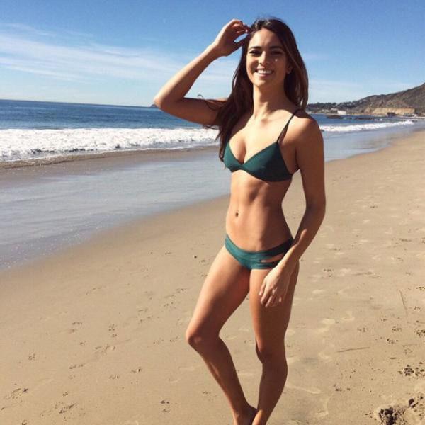 夏のビーチの美女画像 49