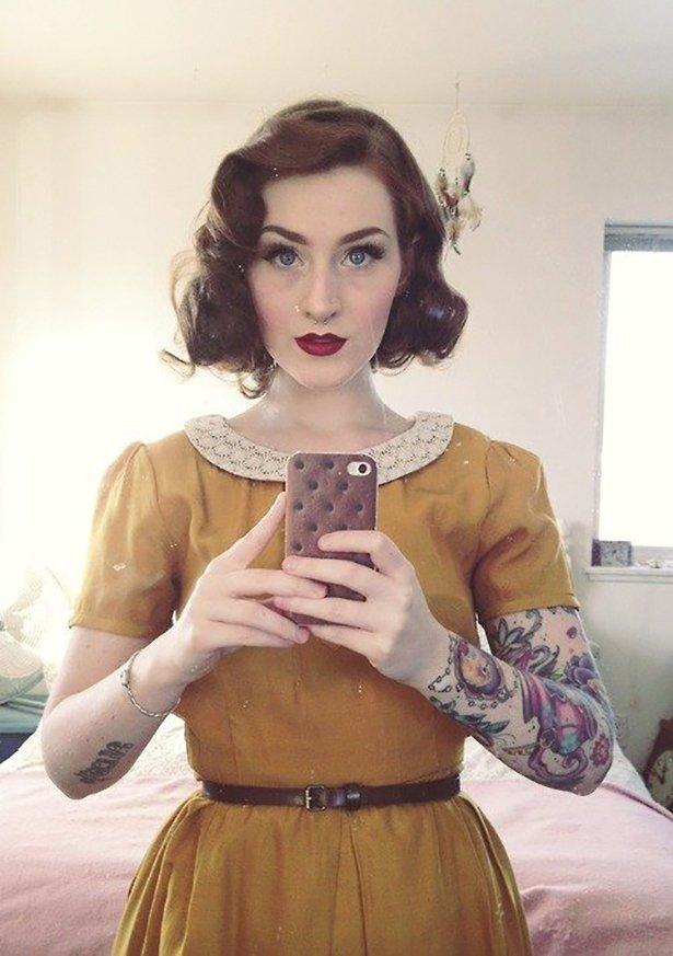 タトゥー入れてる外国人の女の子画像 17