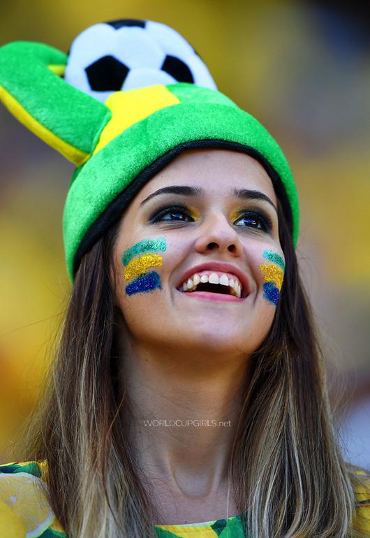 ブラジル美女 - ワールドカップ - サッカーサポーター 15