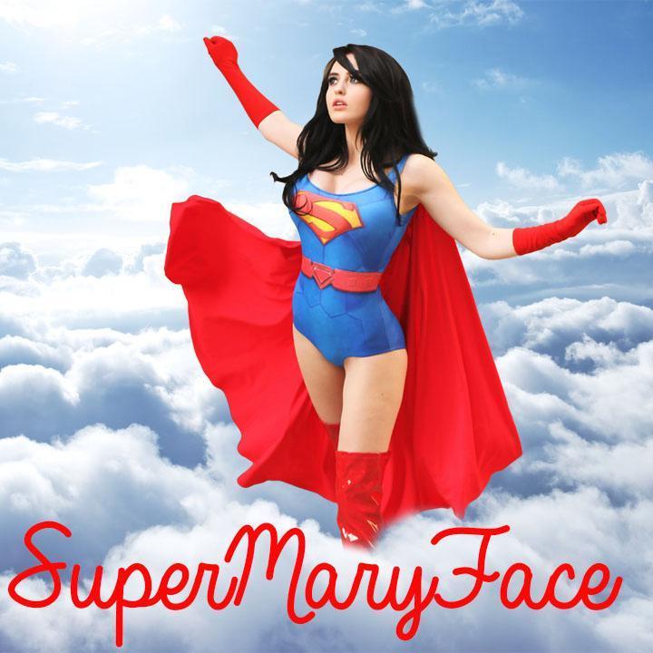 巨乳スーパーマン美女セクシーコスプレ 7