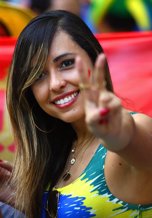 ブラジル美女 - ワールドカップ - サッカーサポーター 10