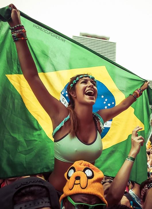 ブラジル美女 - ワールドカップ - サッカーサポーター 9