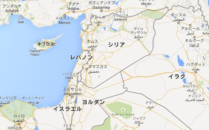 イスラエル地図